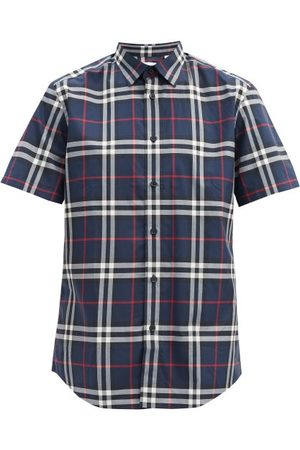 Burberry Caxton Short-sleeved Checked Cotton-poplin Shirt - Mens