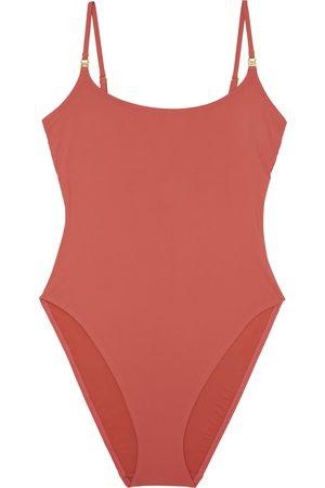 Tory Burch Women's High Leg One-Piece Swimsuit