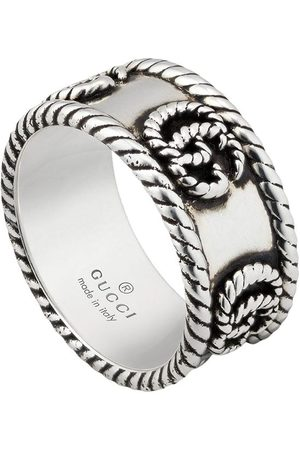 Gucci Men Rings - Double G textured-detail ring