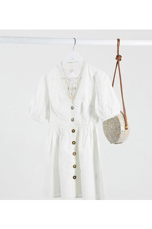 Miss Selfridge Broderie mini dress in ivory