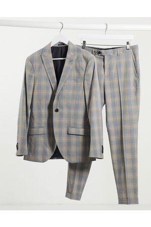 Jack & Jones Premium super slim fit check suit jacket in