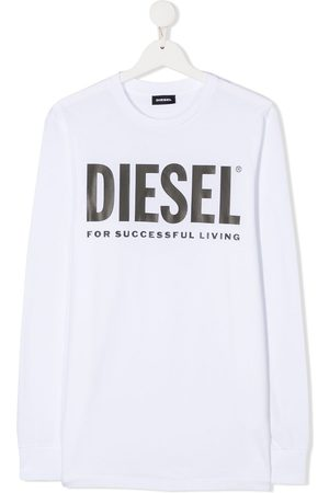 Diesel Long Sleeve - TEEN logo print long-sleeved T-shirt