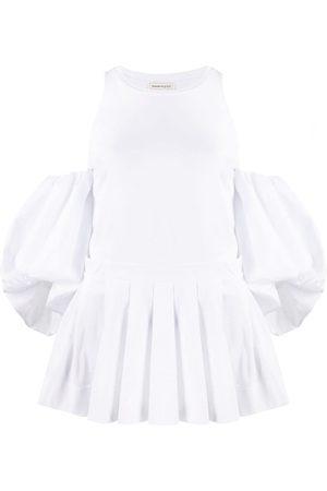 Alexander McQueen Women Blouses - Puff-sleeve blouse