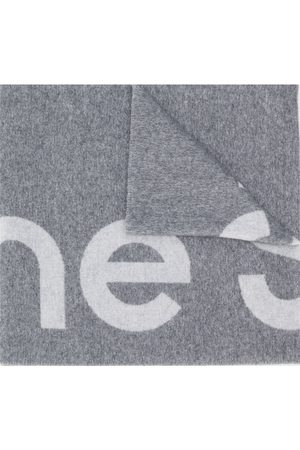 Acne Studios Logo jacquard scarf - Grey