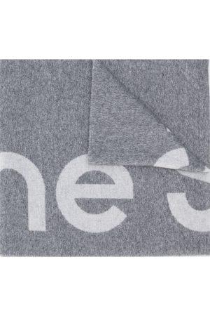 Acne Studios Scarves - Logo jacquard scarf - Grey