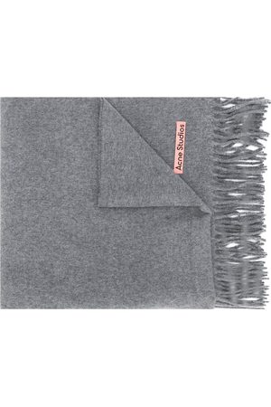 Acne Studios Scarves - Canada New fringed scarf - Grey