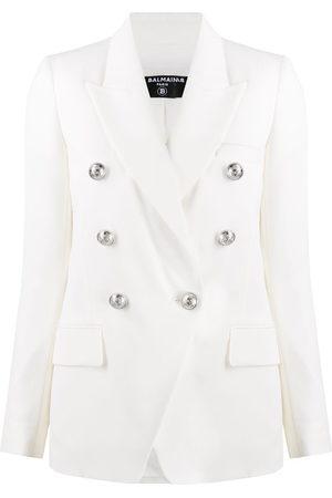 Balmain Women Blazers - Embossed buttons double-breasted blazer