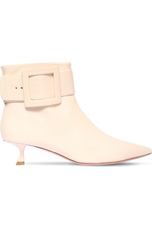 Roger Vivier Women Ankle Boots - 45mm Patent Leather Ankle Boots
