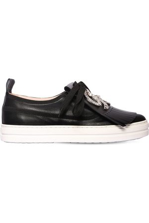 Roger Vivier Women Sneakers - 20mm Call Me Vivier Leather Sneakers