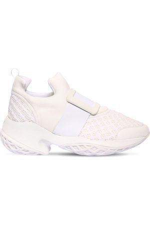 Roger Vivier Women Sneakers - 75mm Viv Run Neoprene & Leather Sneakers