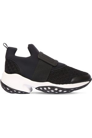 Roger Vivier 75mm Viv Run Neoprene & Leather Sneakers