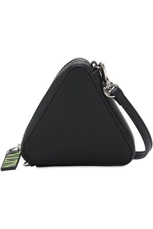 VALENTINO GARAVANI Logo Print Triangle Leather Keychain