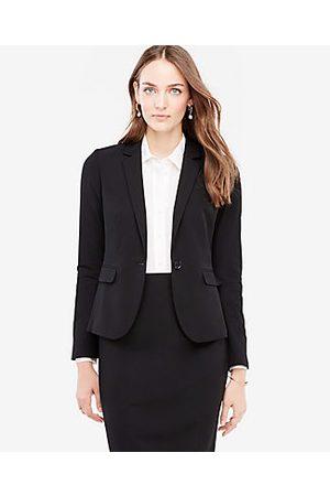 ANN TAYLOR The Tall One-Button Blazer in Seasonless Stretch Size 0 Women's
