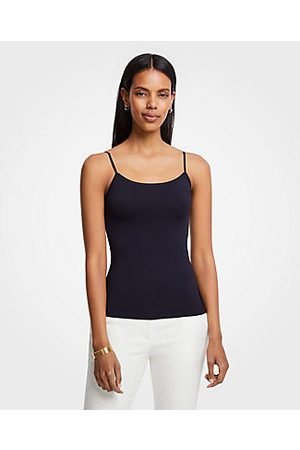 ANN TAYLOR Stretch Cami Top Size 2XS Navy Women's