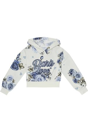 MONNALISA Floral stretch-cotton hoodie
