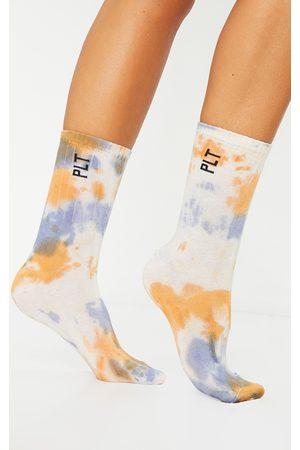 PRETTYLITTLETHING Orange Multi Tie Dye Socks