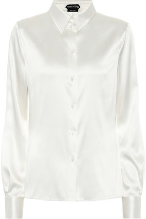 Tom Ford Stretch-silk satin shirt