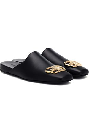 Balenciaga BB Cosy leather mules