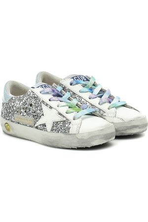 Golden Goose Exclusive to Mytheresa – Superstar glitter and leather sneakers