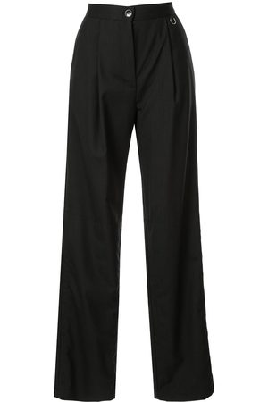 Boyarovskaya High waisted straight trousers