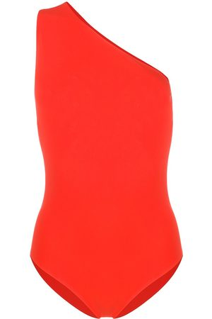 Bottega Veneta Cut-out one shoulder swimsuit