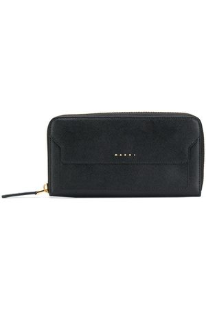Marni Logo embossed zip-around purse