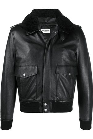 Saint Laurent Oversized flight leather jacket