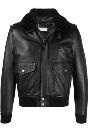 Saint Laurent Oversized flight leather jacket