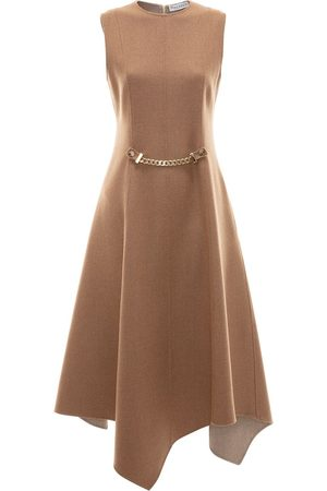 J.W.Anderson Chain detail asymmetric dress - NEUTRALS