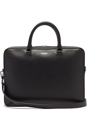 Burberry Ainsworth Logo-print Grained-leather Briefcase - Mens