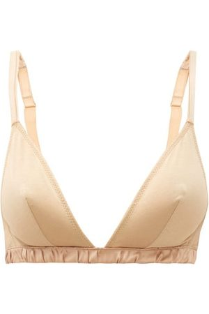 Rossell England Criss-cross Double-strap Cotton Bra - Womens