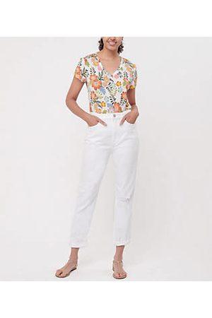 LOFT Women Boyfriend Jeans - High Rise Slim Pocket Boyfriend Jeans in