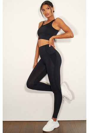 PRETTYLITTLETHING Mesh Pocket Detail Luxe Gym Legging