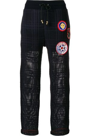 Mr & Mrs Italy Patched tartan joggers