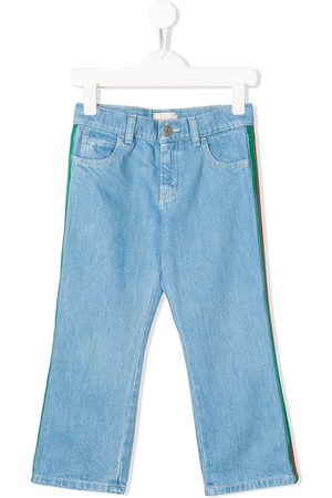 Gucci Striped panel jeans