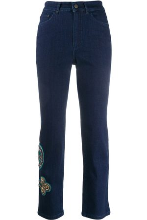 Mr & Mrs Italy Women Skinny Pants - Embroidered skinny trousers