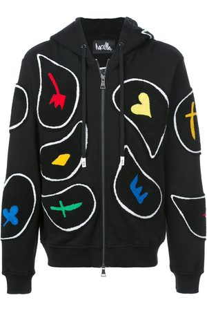 HACULLA Paisley patch zipped hoodie