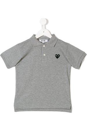 Comme des Garçons Heart polo shirt - Grey