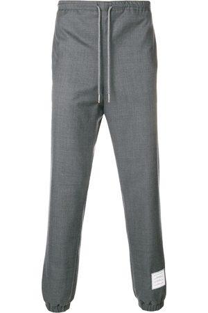 Thom Browne Elastic Hem Wool Track Trouser - Grey