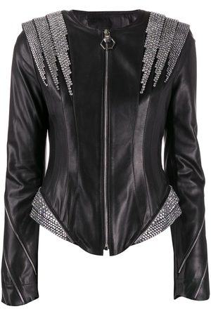 Philipp Plein Crystal panelled jacket