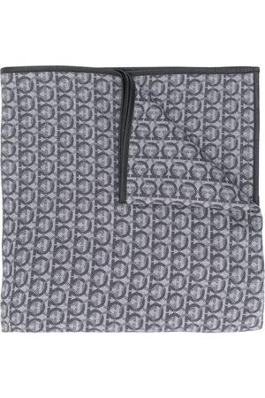 Salvatore Ferragamo Gancini logo patterned shawl