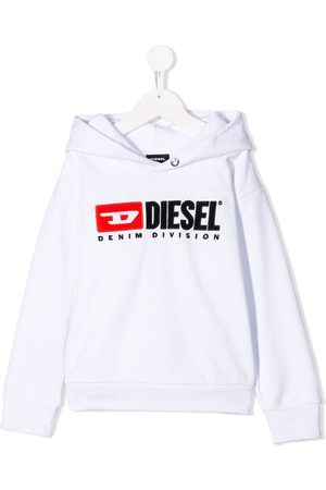 Diesel Boys Hoodies - Contrast logo hoodie