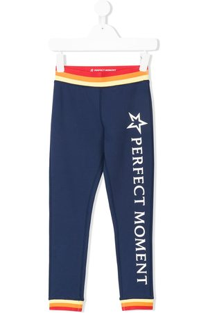 Perfect Moment Girls Leggings - Logo print leggings