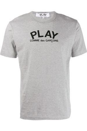 Comme des Garçons Logo round neck T-shirt - Grey
