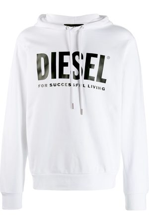 Diesel Logo hoodie in loopback cotton