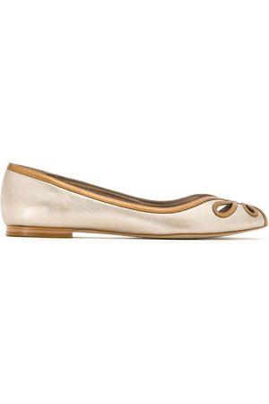 Sarah Chofakian Leather ballerina shoes - Metallic