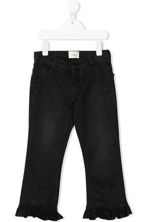 Fendi Girls Jeans - Frill cuff jeans