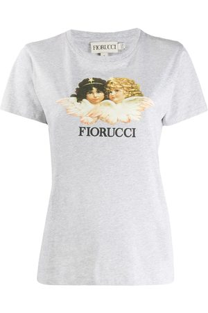 Fiorucci Women T-shirts - Vintage Angels T-shirt - Grey