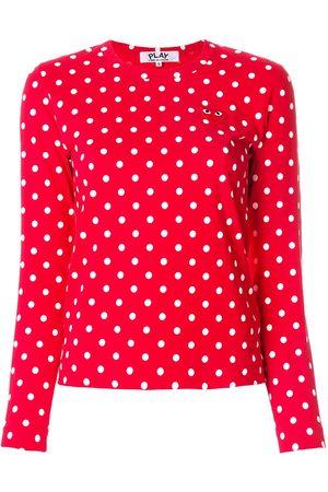 Comme des Garçons Polka dot heart logo T-shirt - Multicolour