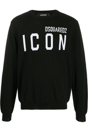 Dsquared2 ICON logo intarsia jumper
